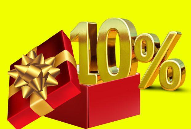 СКИДКА 10% ко Дню Рождения